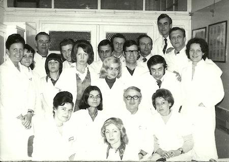 Zespół Kliniki Otolaryngologii w 1975 roku
