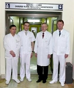 Kadra lekarska Kliniki Chirurgii Klatki Piersiowej i Nowotworów